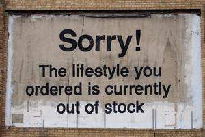 Sorry! The lifestyle you ordered is currently out of stock by Banksy